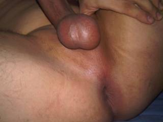 Your smooth balls look great and your shaved asshole is very inviting.