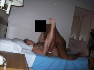Mrs Daytonohfun being mounted right after she had one load pumped into her, she was ready for her second wad of the night