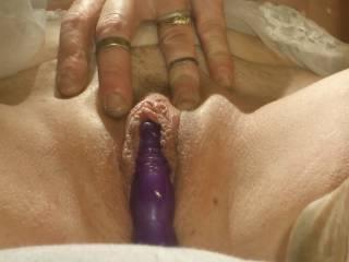 what a nugget of fun love her big clit...so rare!