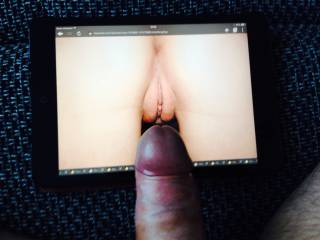 My dick and her pussy pic.