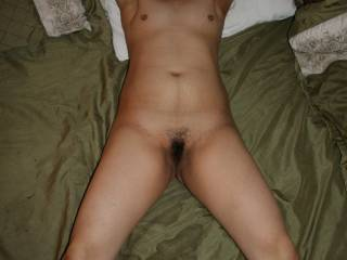Willing sex slave in bed...