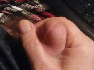 I started just making a video showing my cock getting hard. Then it turned into more. In about ten seconds I was hard and horny. I came so fast.