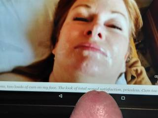 Would love to cum over this very sexy lady, would you like a facial?