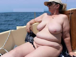 Tonight\'s theme: Boats, boobs and bbws. Hope you enjoy my curvy bod!