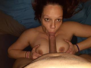 Fuck her tits and mouth all at once.