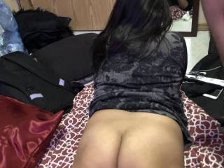 my lady friend getting ready to get some fucking from me
