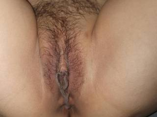 Hairy Asian pussy, those pussy lips feel amazing around my big cock, make me thrust deeper making me squirt hot cum deep inside her.