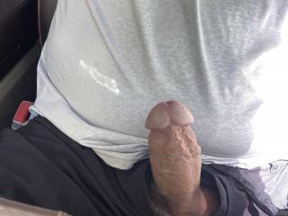 Got hard in truck on way home