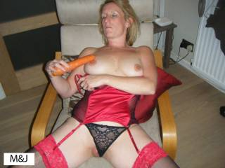 think you may only need one a day from the size of it.  Horny photo and black and red work well especially with your pussy peeping out