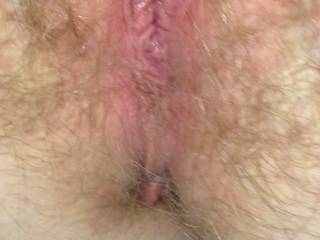 My wife's awesome tight hairy pussy after I licked and fucked that bald pussy I loved going back to my wife's hairy pussy. Will someone please do a cum tribute on one of pussy pics?