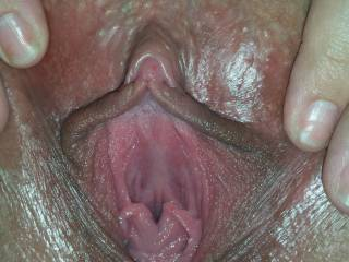 Oh Fuck!  I need to lick it, and stick it!  I have a great load just for you!  You know that you want me to cum in your pussy!   Herb