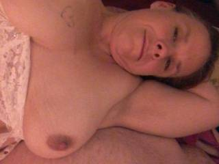 I love to watch my man Jack while I trade him with a little  show. He usually squirts a hot load all over these juicy nipples.