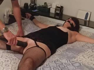 Little did she know when I let her cum before the session that the session was going to be a lot of me making her cum...She got so wet the bed was wet...