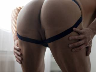BENT OVER SPREADING ASS