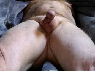 Imagining looking down at you as you get ready to stroke my cock. Would you be fingering your pussy or stroking your cock.