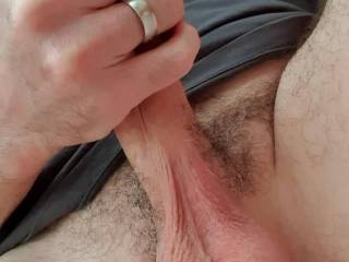 Not really a wank, just got hard and had a bit of a pull. My hard dick in my hand felt good.