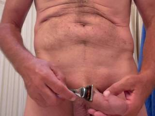 Love my smooth cock and balls!