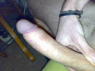 Stroking my hard cock whilst chatting to a friend on Zoig. She gets me so horny...