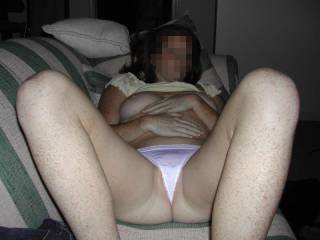 I feel so sexy in white thongs, these ones hardly cover my pussy :) Yes - I have a raging panty fetish even w/ other girls :)