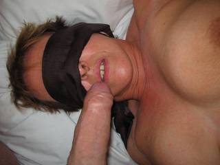 Just as he was about to cum in my open mouth