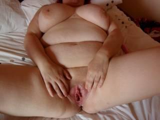 my bbw fuckbuddy waiting for cock