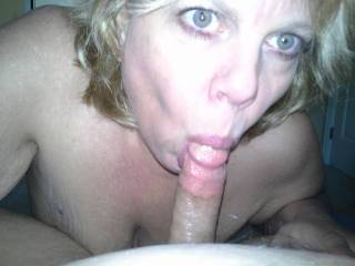 Mrs Daytonohfun is so photogenic with other men\'s cocks in her mouth.  She loves sucking stranger cock!  Her hubby was in the next room as she sucked on mine!!!
