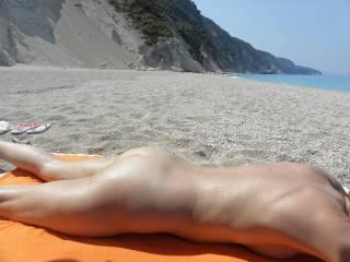 A nudist time on a Greek island