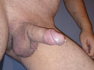 love to have that whole cock in my mouth all the way to them meaty,hairy balls!!!