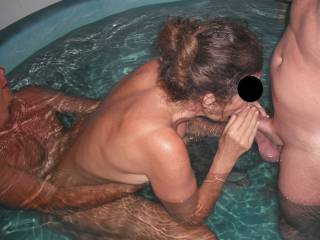 What sexy, wonderful fun!   Great pool therapy!  :-)