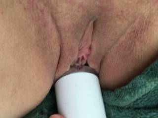 Wand handle deep. She wants lube squirted over her cunt. Its like being cum over by strangers apparently. listen to her, listen to the wand as it slides from her spicky pussy