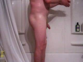Needed a nice soapy shower. I love to have a clean cock and ass. Next the wife anyone interested?