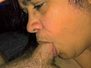 My girl and her big soft lips sucking my dick.....she gives great head