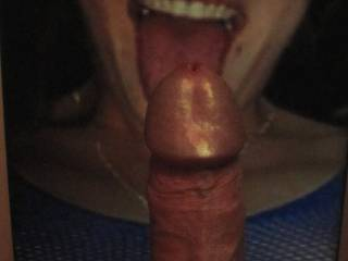 If only this dream could become true! This beautiful smiling face willing to take my (?) dick makes me hard. Anytime.