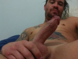 Love watching him play with his hard cock