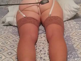 The wife getting her weekly spanking.. Any women on zoig want to cum over and spank and fuck her ???