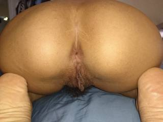 Filipina ass and pussy from behind before doggy