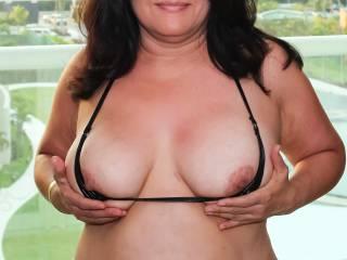 Vacation Bikini Photo 2 of 2:  Tiny bikini top that sometimes doesn't cover my nipples!