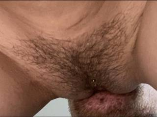 Eating my girls hairy pussy ;)  What do you think? ;)