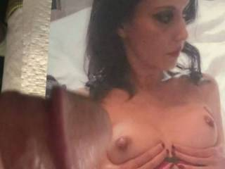 i love to see a lady dress up and cup her tits for her cum shot!
