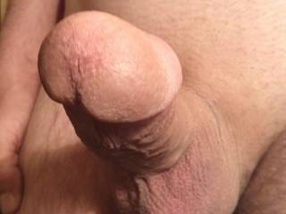 A close up of my cock\'s head and cum hole.