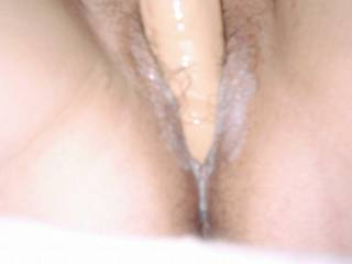 wife with toy getting so creamy