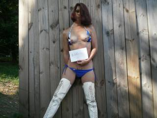 wow wow wow wow... damn as sexy as ever ... and would love to come and grab you... Mmmmm  by the hips from behind wearing your cfm boots and fuck till you cum all over my hard cock.... which is very hard right now  :)  me have to go and play  :) xxxx