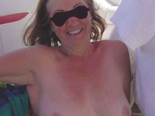 great tits, they look great wish I was sucking on them, I played with a ladies tits that looked like yours the past few days, I thought it was you that I was fucking