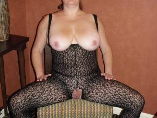 Running as fast as I can to cum and get it!  What beautiful, big tits and such a pretty pussy!