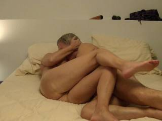 Any of us would love to be pleasing that pussy orally while he pleases your  tits!