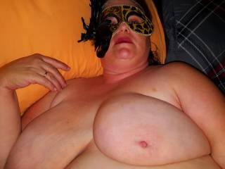 Wifes big tits.