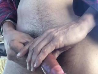 A nice long Zoig session with climax! Do you like my cock? Does it make you wet?