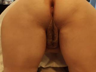 This is my favorite position. Fill my holes! This married woman\'s ass and pussy needs your cock\'s loving. I am in position, and I am sooo wet thinking about your cock inside of me.