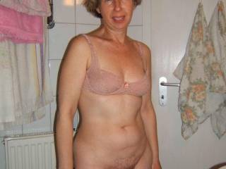 Luv your hairy pussy. Maybe next time you will put on panties and take off your bra. I will be looking for you.