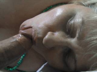 Ahhh the taste of sweet pre-cum captured in this most erotic pic displaying your mind blowing bj skills..